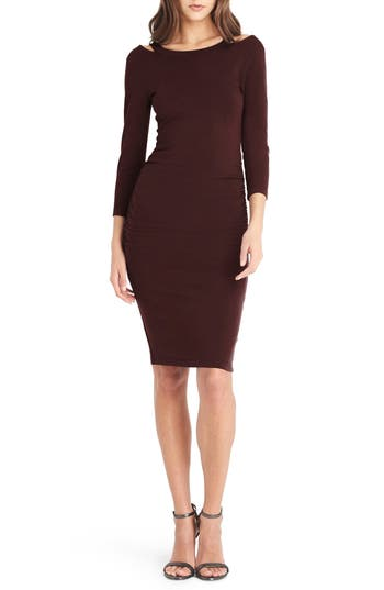 Michael Stars Strap Back Body-Con Dress, Burgundy
