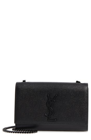 Saint Laurent Small Kate Leather Shoulder Bag - Black