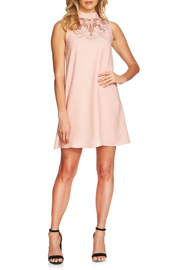 Cece Ava Embroidered Shift Dress, Pink