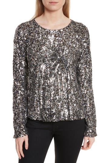 Women's Equipment Abeline Sequin Top, Size XX-Small - Grey