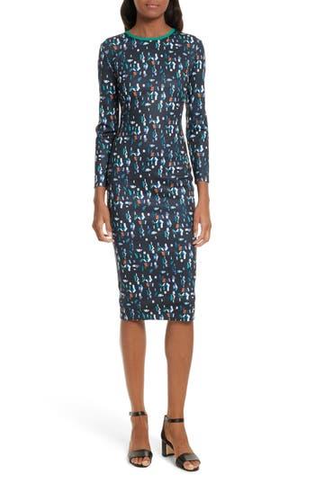 Ted Baker London Kielder Print Body-Con Dress, Blue