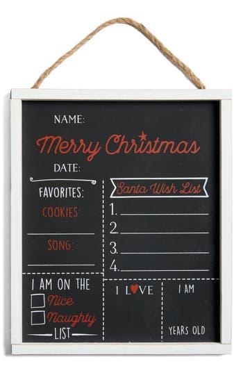 Infant Mud Pie Christmas Chalkboard