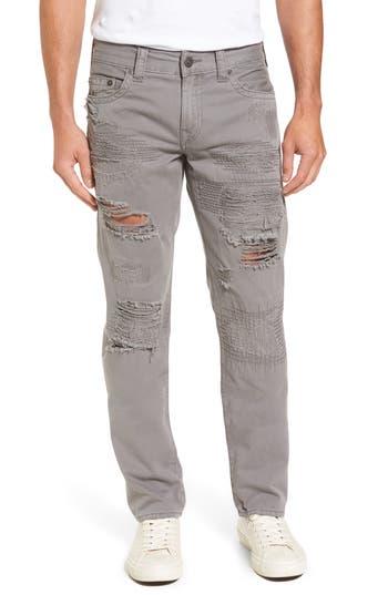 Big & Tall True Religion Brand Jeans Geno Straight Fit Jeans, Grey
