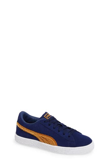 Boys Puma Classic Terry Sneaker Size 3.5 M  Blue
