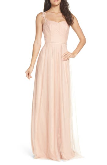 Monique Lhuillier Bridesmaids Violetta Tulle Gown, Pink