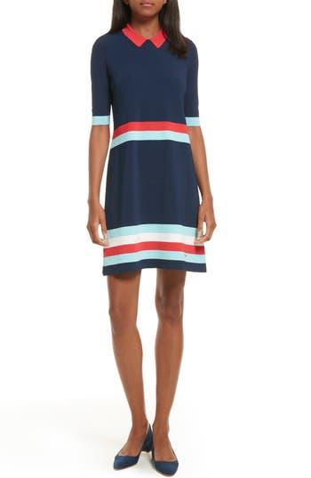 Ted Baker London Origami Stripe Knit Dress, Blue