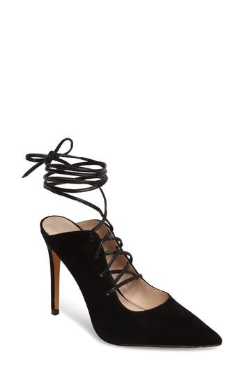 Topshop Giggle Ghillie Pump - Black