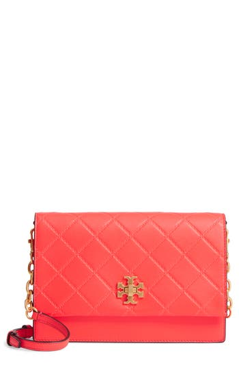 Tory Burch Georgia Quilted Leather Shoulder Bag - Pink