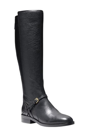 Cole Haan Pearlie Tall Boot, Wide Calf- Black