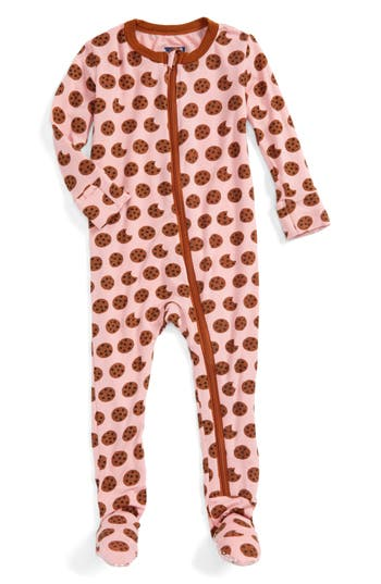 Infant Girl's Kickee Pants Fitted One-Piece Footie Pajamas