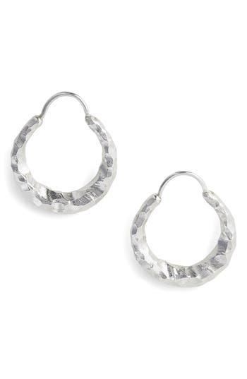 Women's All Blues Fat Baby Snake Carved Silver Earrings