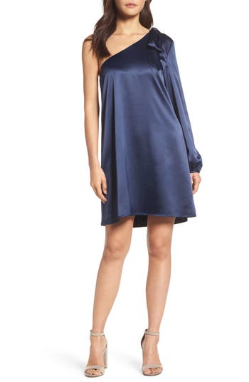 Nsr One-Sleeve Shift Dress, Blue