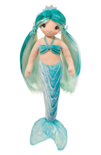 Infant Girls Douglas Ciara Aqua Mermaid Stuffed Toy