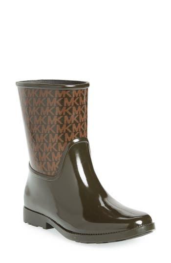 Michael Michael Kors Sutter Rain Bootie, Green