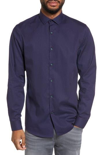 Calibrate Print Sport Shirt, Blue