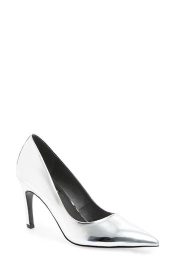 Topshop Glimpse Pointy Toe Pump - Metallic