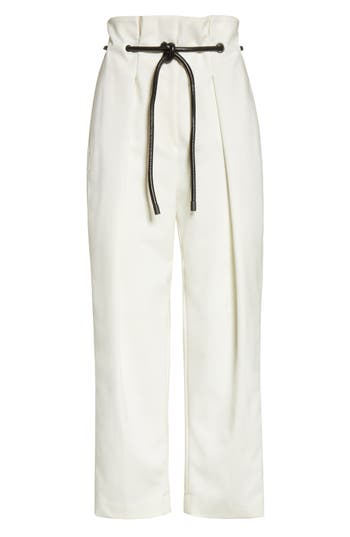 3.1 Phillip Lim Origami Crop Flare Pants, White