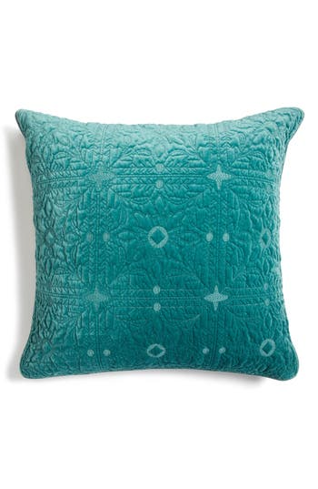 Nordstrom At Home Washed Velvet Euro Sham, Size Euro - Green