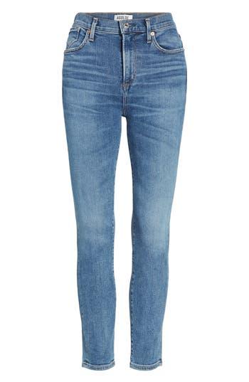 Agolde Sophie High Waist Crop Skinny Jeans, 7 - Blue