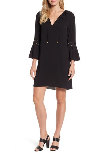 Michael Michael Kors Lace-Up Sleeve Dress, Black