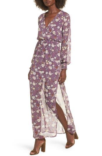 Surplice Maxi Dress, Purple