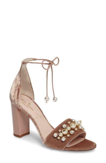 Kate Spade New York Iverna Embellished Sandal, Beige