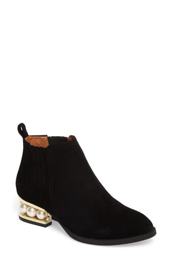 Jeffrey Campbell Metcalf Almond Toe Bootie, Black