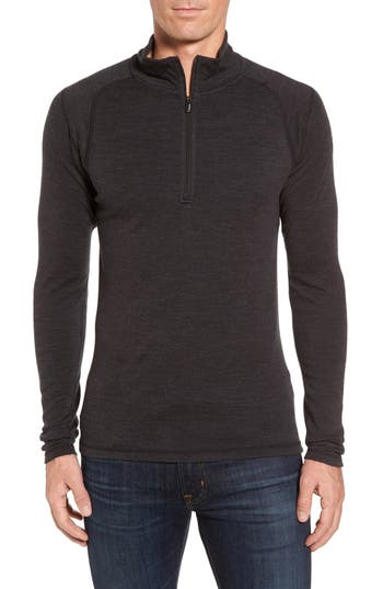 Smartwool Merino 250 Base Layer Quarter Zip Pullover, Grey