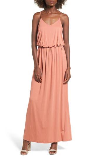 Knit Maxi Dress, Coral