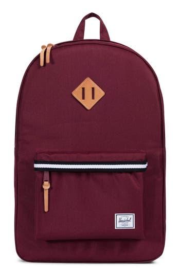 Herschel Supply Co. Heritage Offset Stripe Backpack - Red
