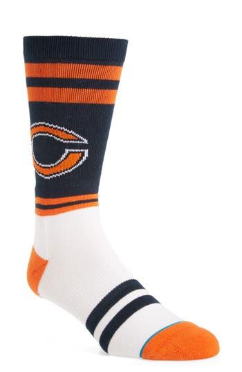 Men's Stance Chicago Bears - Sideline Socks, Size Large - Orange