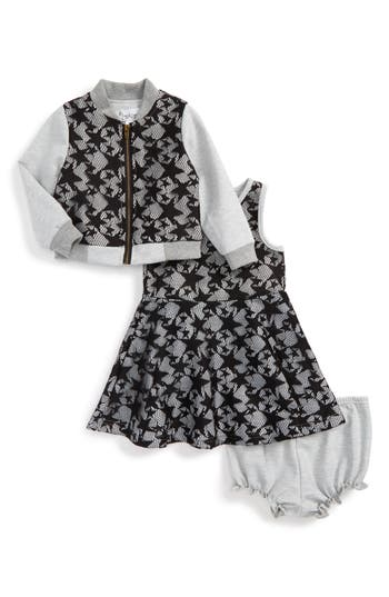 Infant Girl's Pippa & Julie Star Lace Jacket & Dress Set