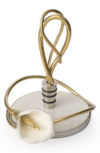 Michael Aram Calla Lily Wine Coaster & Stopper Set, Size One Size - Metallic