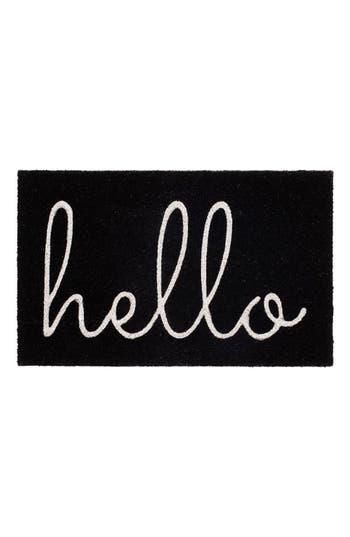 Bovi Hello Door Mat, Size One Size - Black