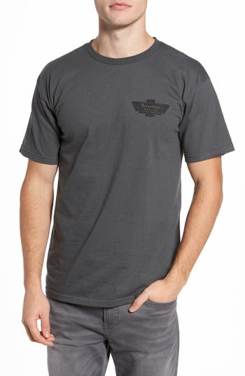 Brixton Cylinder Standard T-Shirt, Grey