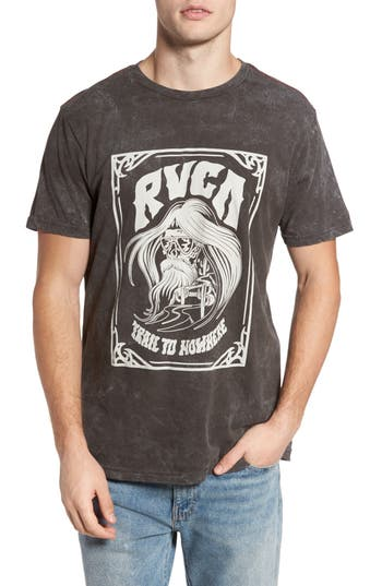 Rvca Trail To Nowhere Graphic T-Shirt, Black