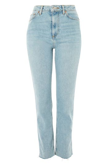 Women's Topshop Vintage Bleach Raw Hem Straight Leg Jeans at NORDSTROM.com