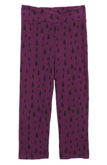 Infant Girl's Joah Love Print Leggings, Size 12M - Purple