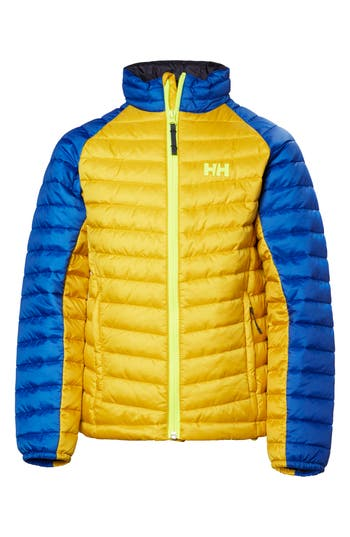Boys Helly Hansen Jr Juell Insulator Water Repellent Jacket Size 12  Green