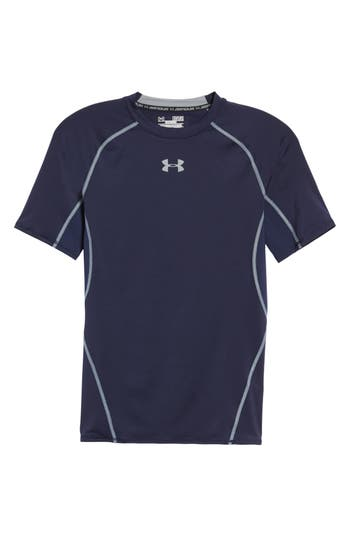 Under Armour Heatgear Compression Fit T-Shirt, Blue