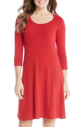Karen Kane A-Line Sweater Dress, Red