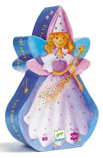 Girl's Djeco Silhouette Puzzles The Fairy And The Unicorn 36-Piece Puzzle