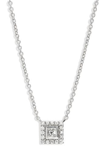 Bony Levy Amara Diamond Square Pendant Necklace