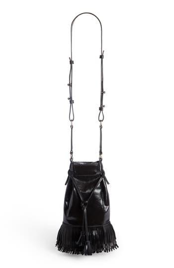 Isabel Marant Askiah Fringe Leather Crossbody Bag - Black at NORDSTROM.com