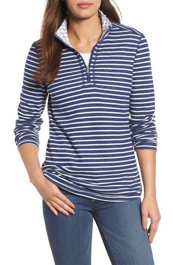 Tommy Bahama Le Petite Reversible Half-Zip Sweatshirt, Blue