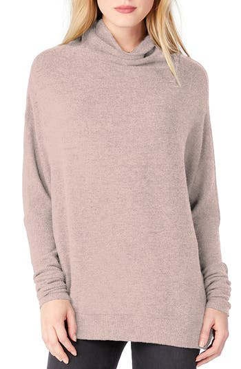 Michael Stars Mock Neck Dolman Shirt, Pink