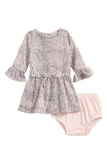 Infant Girl's Splendid Snakeskin Print Dress, Size 3-6M - Pink