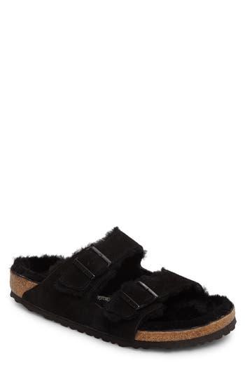 Birkenstock Arizona Slide Sandal with Genuine Shearling
