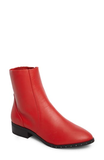 Topshop Kash Sock Boot - Red