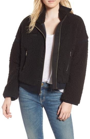 Women's Mcguire Larousse Faux Shearling Jacket, Size Large - Black